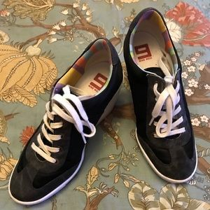Wedge tennis shoes. Size 7.5. Nine West.